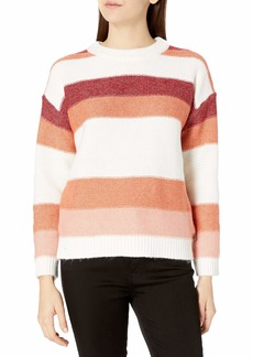 Roxy Women's Trip for Two Stripe Sweater canyon clay L