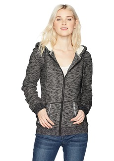Roxy Women's Trippin Sherpa Zip up Flece Sweatshirt  L