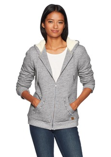 Roxy Women's Trippin Sherpa Zip up Fleece Sweatshirt  S