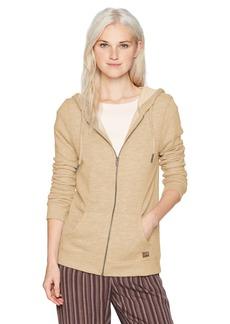Roxy Women's Trippin Zip up Fleece Sweatshirt  L