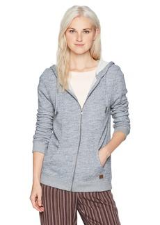 Roxy Women's Trippin Zip up Fleece Sweatshirt  XS