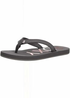 Roxy Women's Vista Logo Sandal Flip Flop   M US