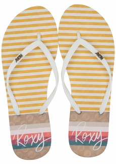 Roxy Women's Viva Stamp Flip Flop Sandal   M US