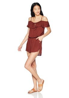 Roxy Women's Western Holiday Coverup Swim Romper  XL