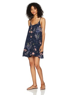 Roxy Women's Windy Fly Away Print Cover up Dress  L