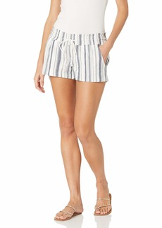 Roxy Women's Yarn Dye Shorts Mood Indigo Oceanside 211 STRI