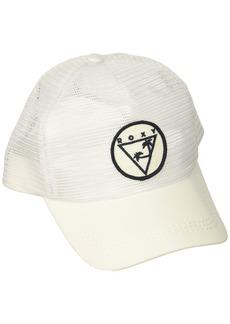 Roxy Women's Your Baby Patch Trucker Hat Marshmallow ERJHA03316 1SZ