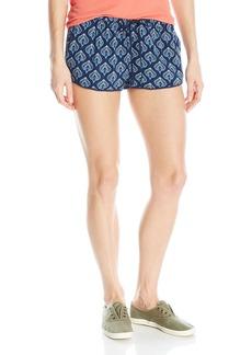 Roxy Women's Mystic Topaz Printed Woven Pull-on Beach Shorts  M