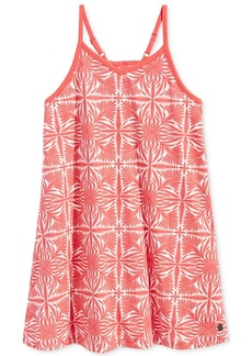 Roxy Words To None Else Crochet-Back Printed Cotton Dress, Toddler & Little Girls (2T-6X)