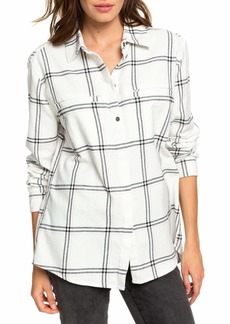 Roxy Young Again Plaid Flannel Shirt