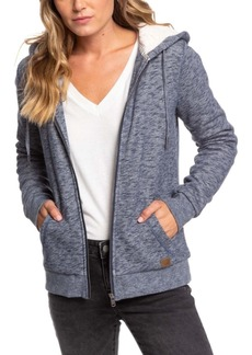 Roxy Zip-Up Hoodie With Faux-Sherpa Lining