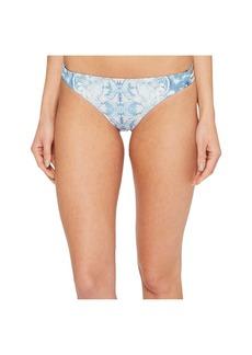 Roxy Softly Love Print Reversible Surfer Bikini Bottom