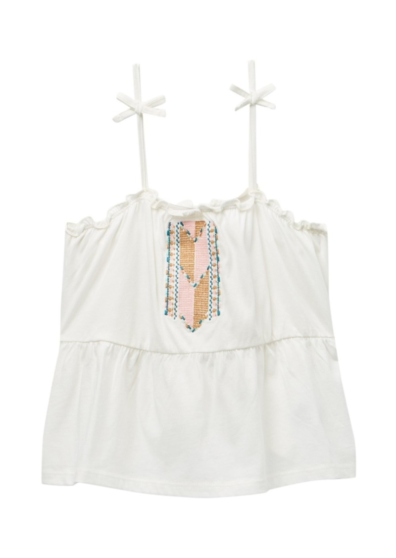 Roxy Sweet Summer Embroidered Tank Top (Big Girls)
