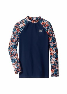 Roxy The Little Mermaid Sebastian Floral Whole Hearted Rashguard (Big Kids)