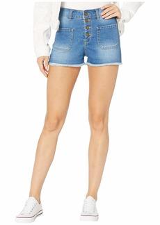 Roxy The Sun Shines Denim Shorts in Medium Blue