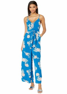 Roxy Wheel and Palms Strappy Wide-Leg Jumpsuit.
