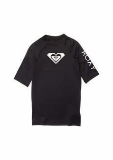 Roxy Whole Hearted Short Sleeve Rashguard (Big Kids)