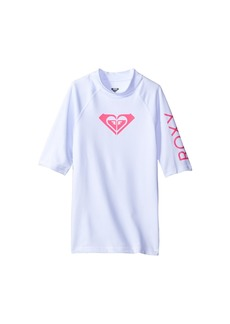 Roxy Whole Hearted Short Sleeve Rashguard (Big Kids)