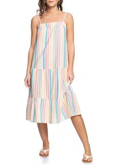 Women's Roxy Golden Allure Stripe Cotton & Linen Sundress