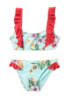 Roxy X Disney Ariel Heritage Floral 2-Piece Swimsuit (Big Girls)