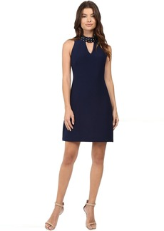 rsvp Avani Crepe Dress with Collar Detail