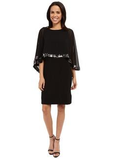 rsvp Chiffon Caplet Sequin Trim Dress