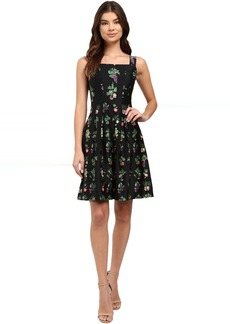 rsvp Flora Pleated Flare Dress