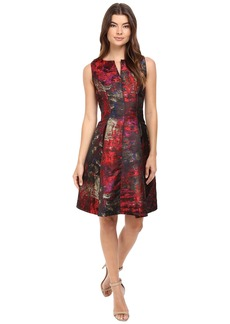 rsvp Minnie Sleeveless Fit and Flare with Split Neckline