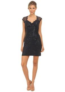 rsvp Sequin Short Dress with Keyhole Back