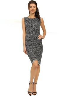 rsvp Two-Tone Glitter Lace Dress