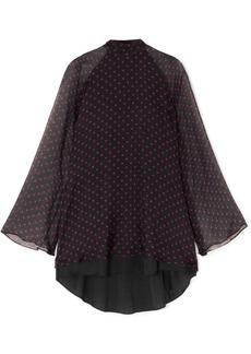 RtA Ariana Polka-dot Silk-chiffon Mini Dress