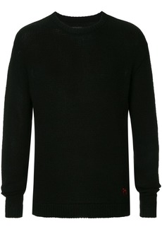 RtA cashmere slogan embroidered jumper