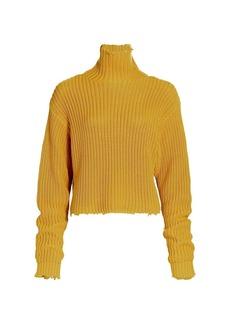 RtA Beau Long-Sleeve Turtleneck Sweater