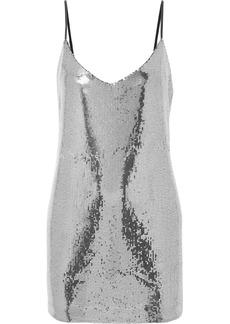 RtA Bijoux Sequined Crepe De Chine Mini Dress