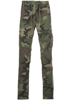 RtA camouflage print trousers
