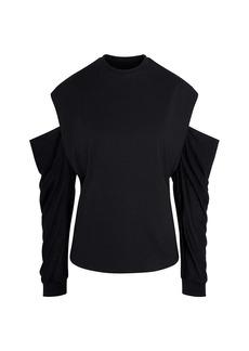 RtA Capucine Cutout-Sleeve Sweater