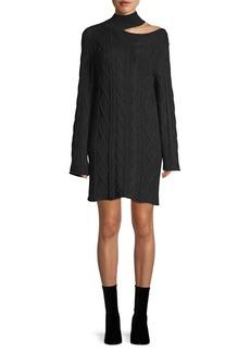 RtA Corin Cut-out Cableknit Sweater Dress