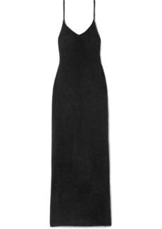 RtA Cornelia Open-back Mohair And Wool-blend Maxi Dress