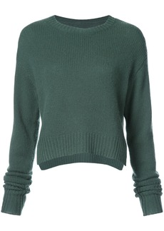 RtA crop cable sweater