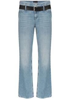 RtA Dexter belted straight leg jeans