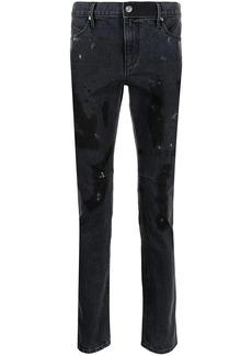 RtA distressed paint splatter-detail jeans