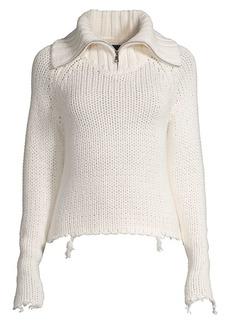 RtA Dom Quarter Zip Sweater