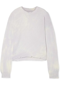 RtA Emma Distressed Tie-dyed Cashmere Sweater