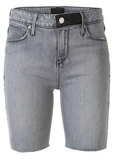 RtA fitted denim shorts