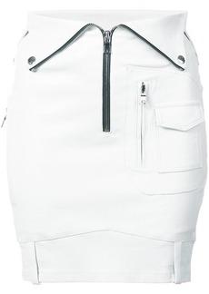 RtA fold over leather mini skirt