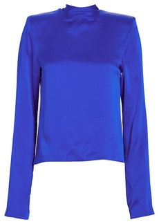 RtA Freddie Charmeuse High Neck Blouse