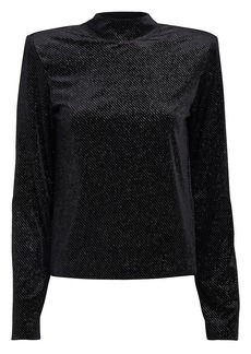 RtA Freddie Diamante High Neck Blouse
