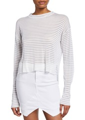 RtA Gilda Striped Long-Sleeve Top