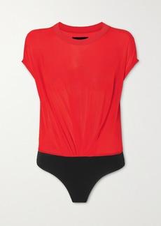 RtA Halle Cupro-blend And Stretch-jersey Bodysuit