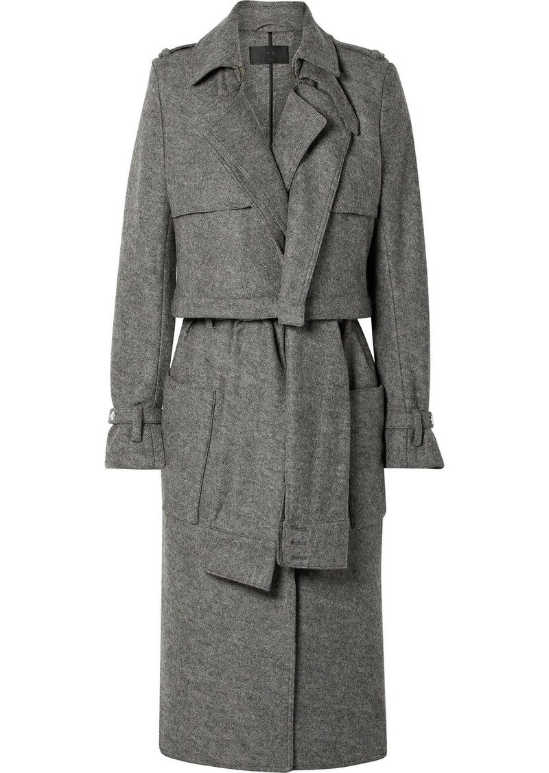 RtA Harlow Belted Wool Trench Coat